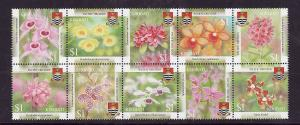 Kiribati-Sc#855-Unused NH set-Flowers-Orchids-2004-