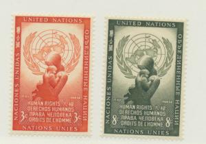 United Nations (New York) Scott #29 To 30 From 1954, Mint Never Hinged MNH - ...