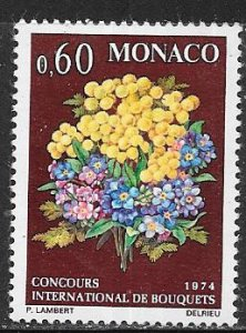 Monaco #895  60c Flowers  (MNH) CV $2.00