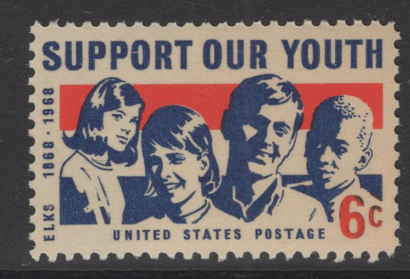 US 1968 Girls & Boys 6c Stamp Scott 1342 MNH