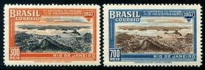 HERRICKSTAMP BRAZIL Sc.# 443-44 1937 Radio Mint NH
