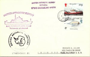 BRITISH ANTARCTIC TERRITORY ARCTIC ANTARCTIC POLAR CANCEL / CACHET #108