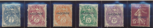 Andorra (French) Stamps Scott #1-6, 8, 11, Mint Hinged, 1931 Overprints - Fre...
