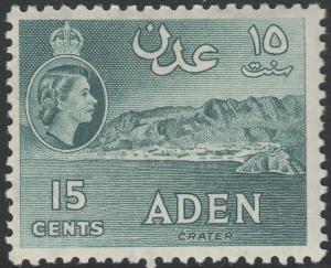 Aden 1962 QEII 15c Greenish Slate MH
