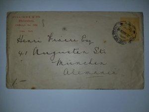 J) 1920 PERU, CIRCULATED COVER FROM PERU TO GERMANY