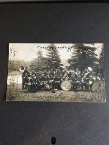 Canada 1c Edward Pays Postage on Card With Actual Photo Thetford Mines Band