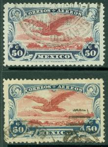 EDW1949SELL : MEXICO 1922 Scott #C1, C1a Very Fine, Used. Catalog $140.00.
