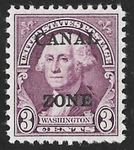 CANAL ZONE 115 3 cent George Washington Stamp mint OG NH EGRADED XF 90 XXF