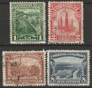 Colombia 1932 Sc 411-4 partial set most used