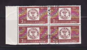 Romania 1259 Block of 4 U Stamps on Stamps