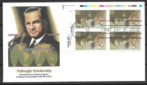 1996 Sc3065 Fulbright Scholarship PB4 FDC