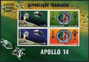 Togo 774-777,C149-C151,C151a,MNH. Apollo 14 Moon landing,1971:Shepard,Mitchel,