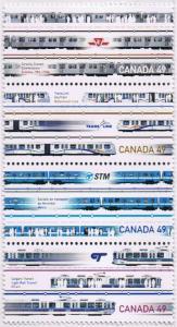 Canada Mint VF-NH #2031a Urban Transit strip/4