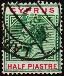Cyprus.1912 1/2pi S.G.75 Fine Used