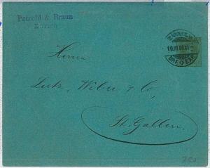 SWITZERLAND  -  POSTAL HISTORY:  PRIVATE Postal Stationery  1908