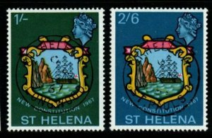 ST.HELENA SG212/3 1967 NEW CONSTITUTION FINE USED