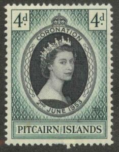 Pitcairn Islands 19 Mint VF H writing on back