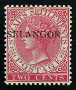 Malaya Selangor 1887 opt Straits Settlements QV 2c MH SG#35 M2001