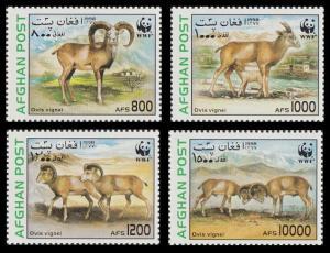 Afghanistan WWF Urial 4v MI#1819-1822