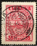 Lithuania 1934: Sc. # 290; O/Used Single Stamp