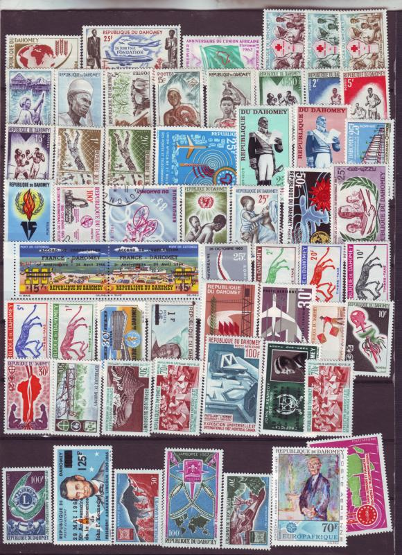 J15474 JLstamps ca1961-67 dahomey mnh/mh few used all different#
