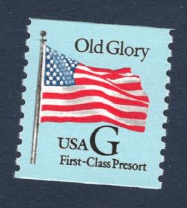 2888 Old Glory Black G US Single Mint/nh (Free Shipping)