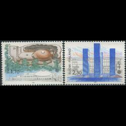 FINLAND 1987 - Scott# 756-7 Europa-Architecture Set of 2 NH