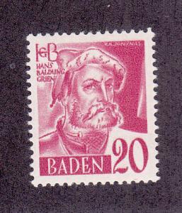 Germany (Baden) Scott #5N37 MH