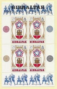 Gibralter  329a  1976 S/S VF NH