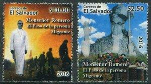 HERRICKSTAMP NEW ISSUES SALVADOR Sc.# 1750-51 Oscar Romero Beatification