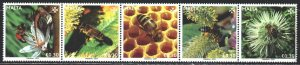 Malta. 2019. 2094-98. Bees and flowers. MNH.