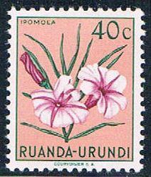 Ruanda Urundi 118 MNH Flower Ipomoea 1953 (R0241)+
