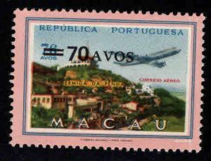 Macau Macao Scott C21 MNH** surcharged airmail stamp