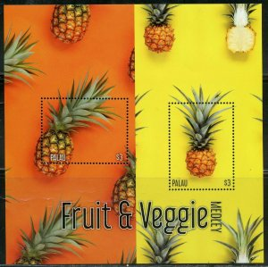 PALAU 2020  FRUITS & VEGGIE MEDLEY PINEAPPLE SHEET MINT NH