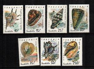 Tanzania MNH 940-6 Seashells Marine Life 1992 SCV 8.00