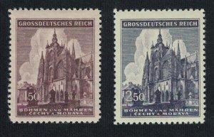 Germany Bohemia and Moravia St Vitus Cathedral Prague 2v 1944 MNH SG#120-121