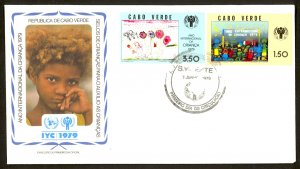 CAPE VERDE 1979 International Year of the Child Set Sc 395-396 on Cachet FDC01