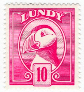 (I.B-JA) Cinderella Collection : Lundy Puffin 10p (colour trial)