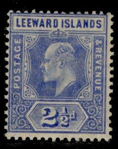 LEEWARD ISLANDS SG40, 2½d bright-blue, M MINT.