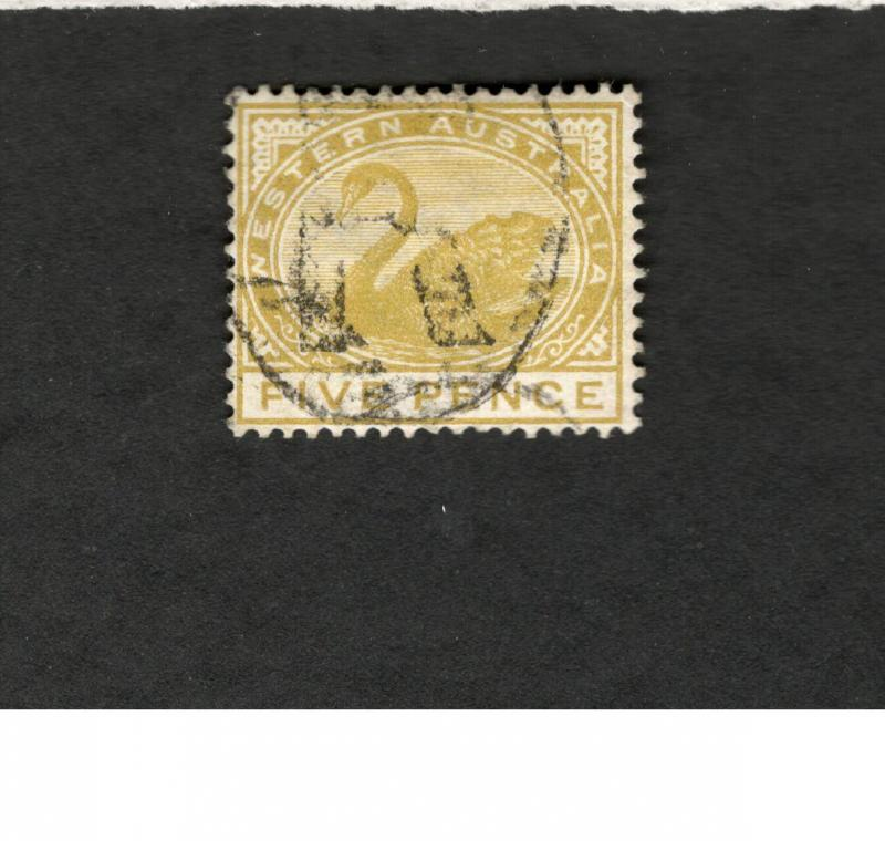 Western Australia SCOTT #66 Five Pence Θ used stamp