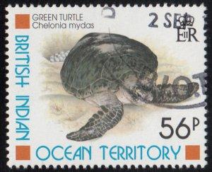 BIOT 1996 used Sc #184 56p Green Turtles