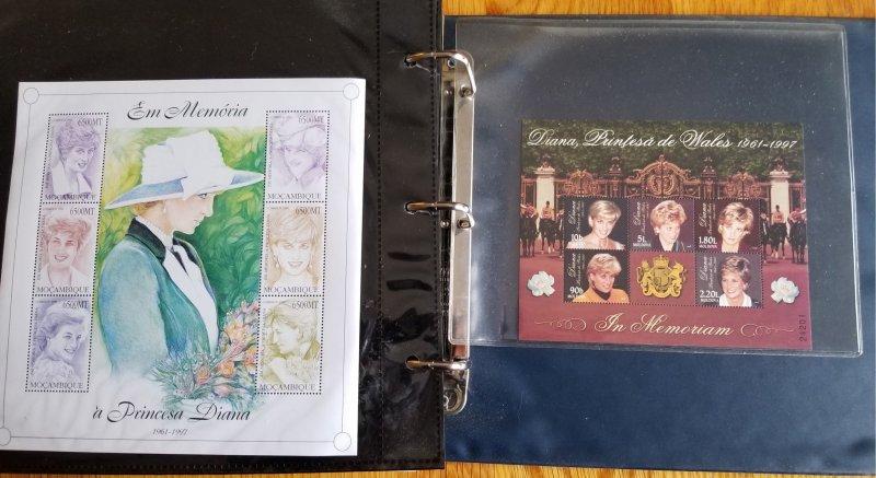 3 Albums Souvenir Sheets; Danna, Queen Elizabeth, Prince Charles and More