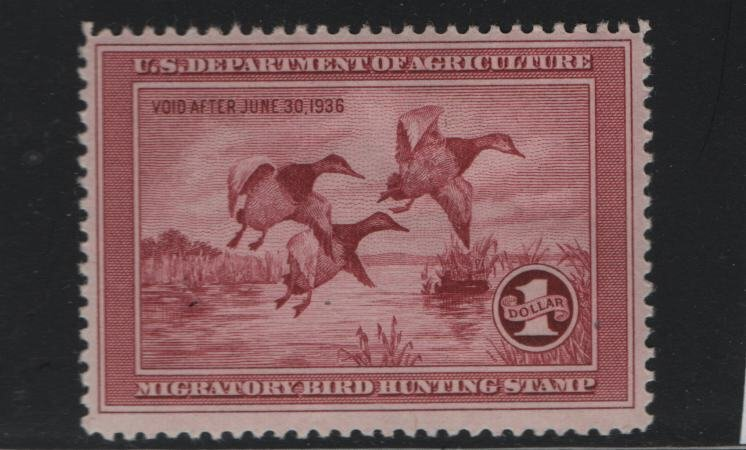 US RW2 MNH, 1935 Department of Agriculture Void after June 30, 1936
