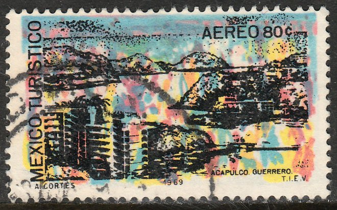 MEXICO C355, TOURISM PROMOTION, ACAPULCO BAY. USED. VF. (1258)