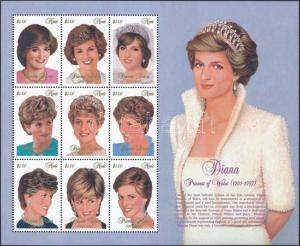 Nevis stamp Princess Diana minisheet 1997 MNH Mi 1158-1166 WS234297