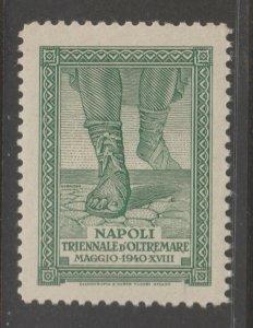 Cinderella revenue fiscal stamp 9-9-27 Italy Napoli