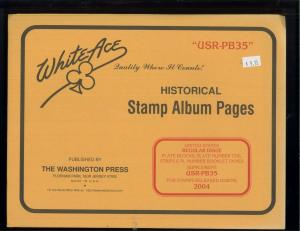 2004 White Ace U.S. Regular Issue Plate Number Stamp Supplement Pages USR-PB35