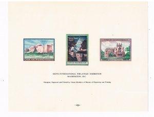 1966 SC3  Sixth International Philatelic Exhibition Sheet