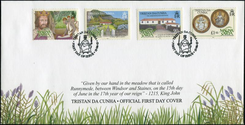 Tristan da Cunha. 2015. 800 Years of the Magna Carta (Mint) First Day Cover
