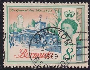 Bermuda 1962 - 68 QE2 8d General post office Hamilton SG 169 ( J680 )